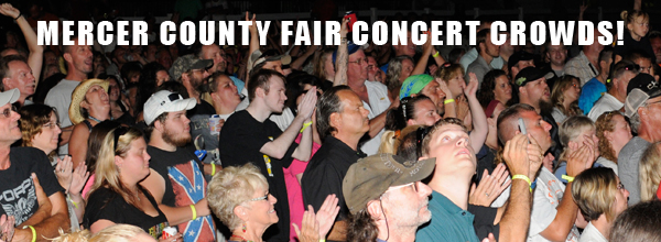 Mercer County Fair Concert Crowds