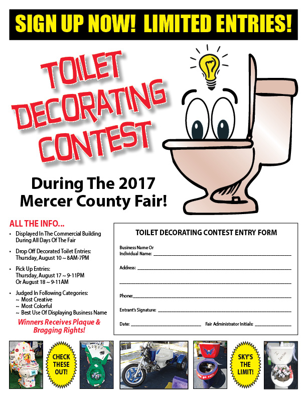 Bucket Of Junk Contest Entry Form  Mercer County Fairgrounds
