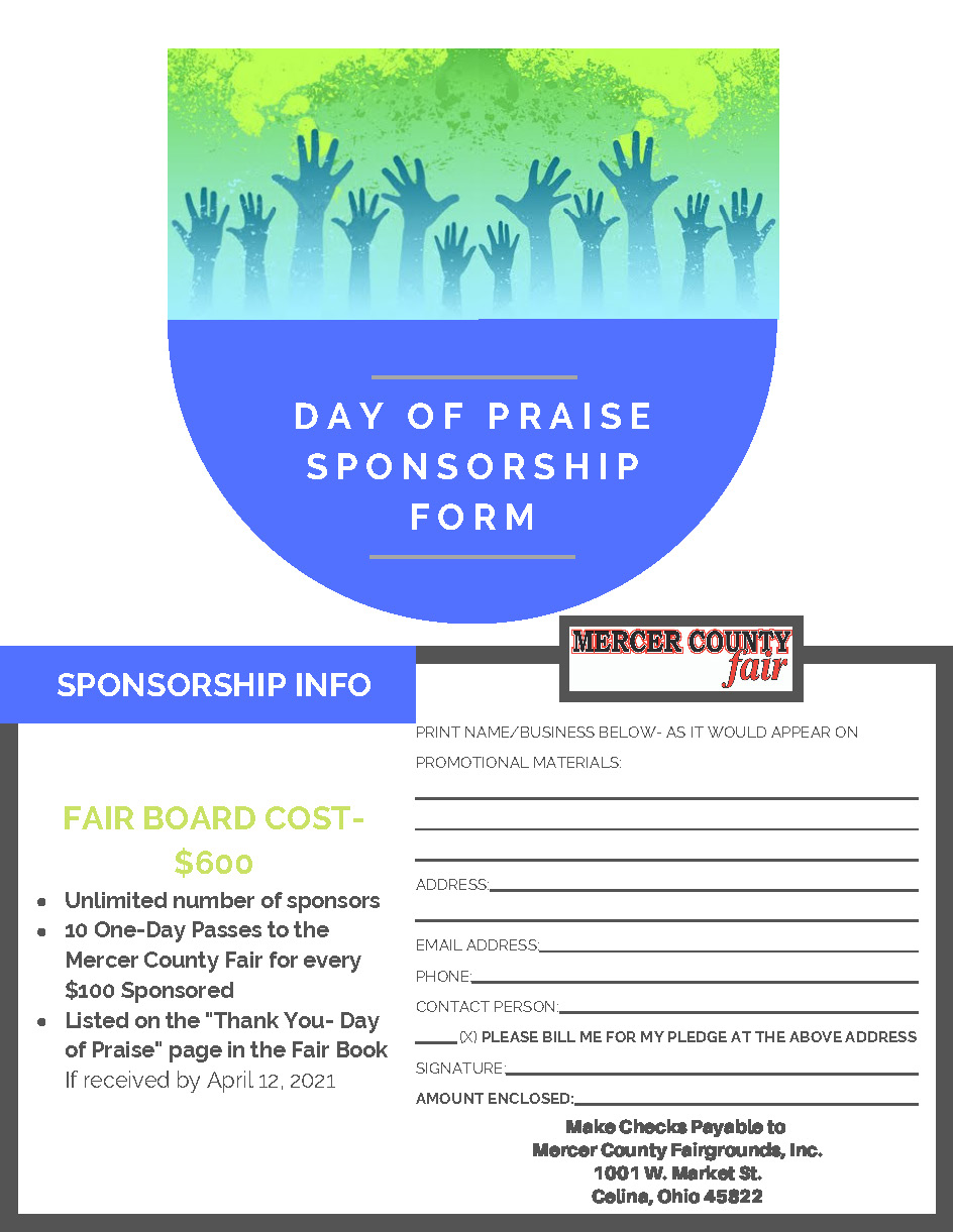 Day of Praise Sponsorship Form