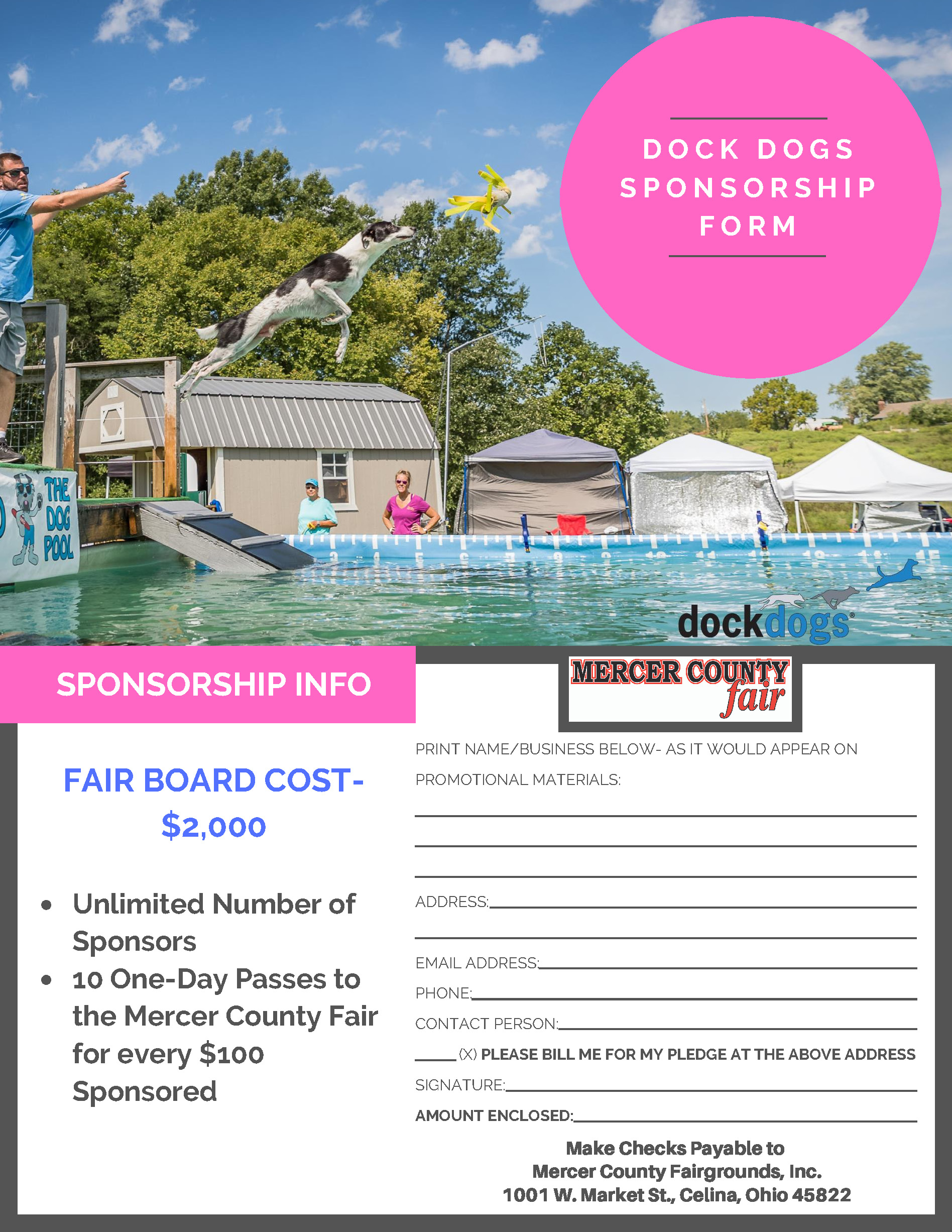 Dock Dogs Sponsorship Form